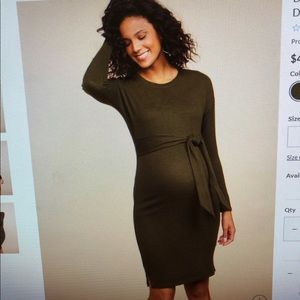 Motherhood Maternity  Knee Length Sweater Dress